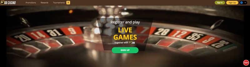 Bob Casino - Live games