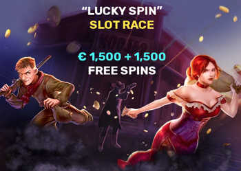 Lucky spin slot race 1500 euro + 1500 gratis spins