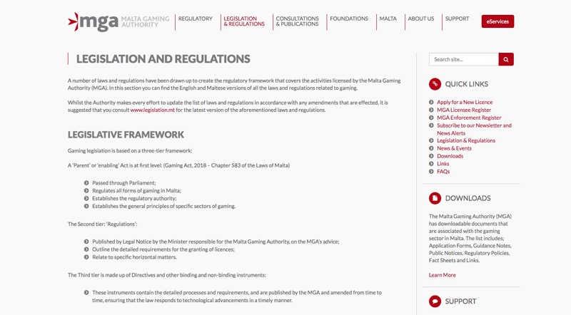 MGA - Regulations
