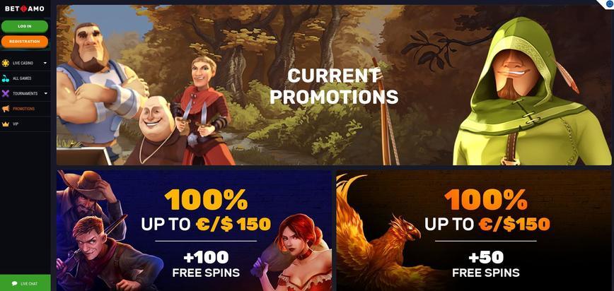 Betamo bonussen & promoties