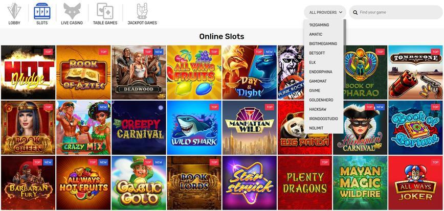 CrazyFox video slots