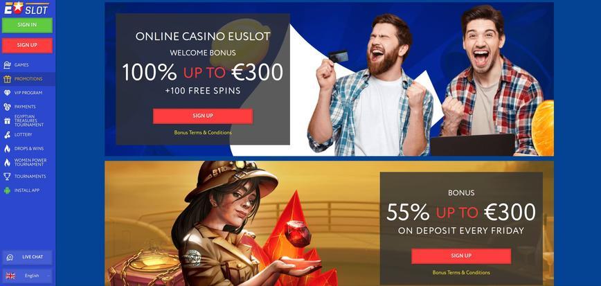 EU Slot bonussen & promoties
