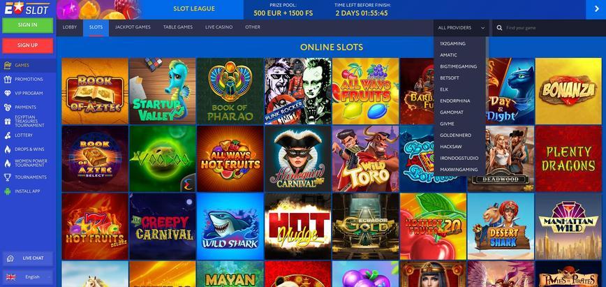 EUSlot Casino het spelaanbod