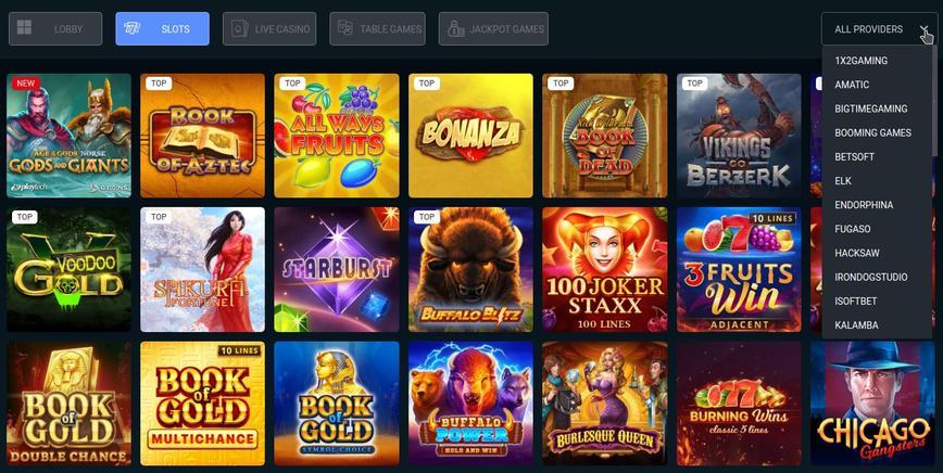 Megaslot Casino spelaanbod
