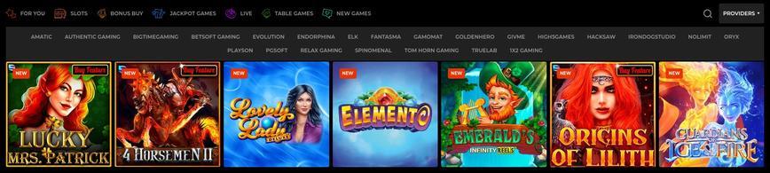 N1 Casino het spelaanbod